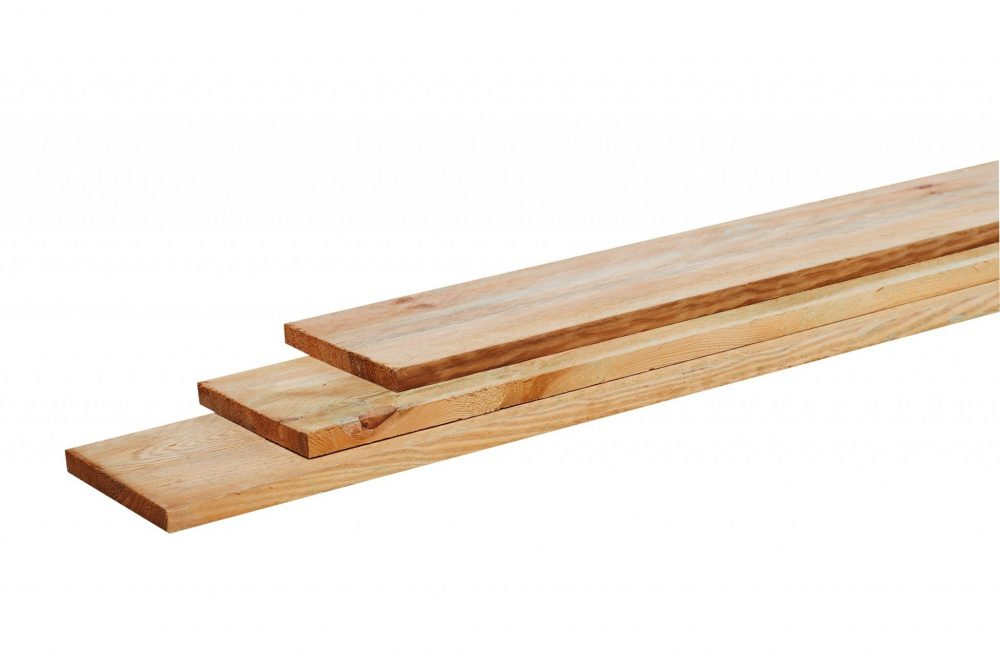 Grenen geschaafde plank