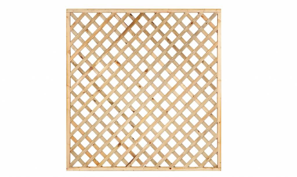 Trellis diagonaal met rechte lijst 180