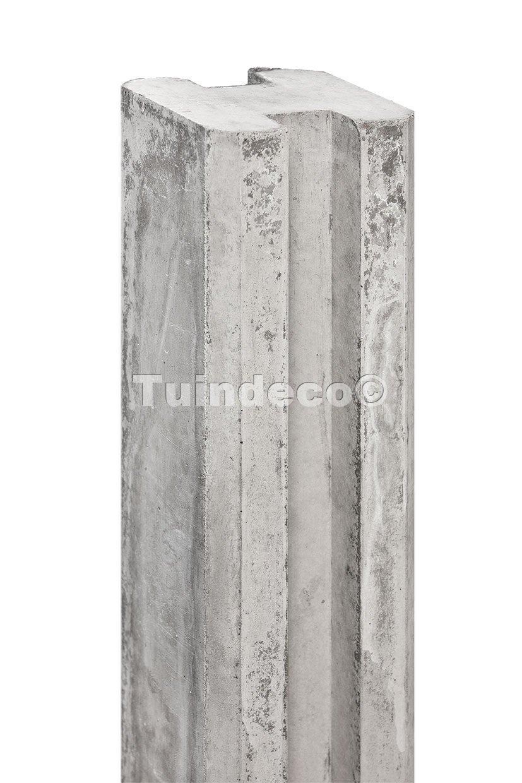 betonnen sleufpaal wit/grijs